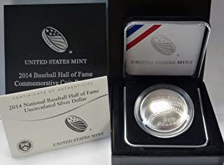 2014 P National Baseball Hall of Fame BU Uncirculated $1 OGP US Mint
