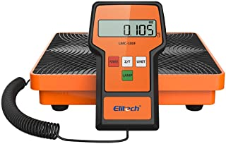 Elitech LMC-100F Digital Refrigerant Charging Weight Scale HVAC Scale 110Lbs with Case