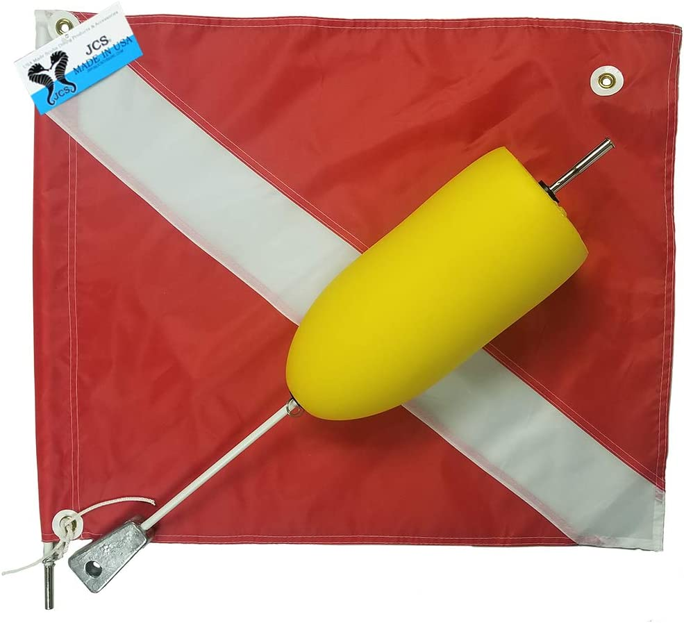 JCS Super Float with Large 20inch Dive Flag x free Max 79% OFF 24inch Nylon