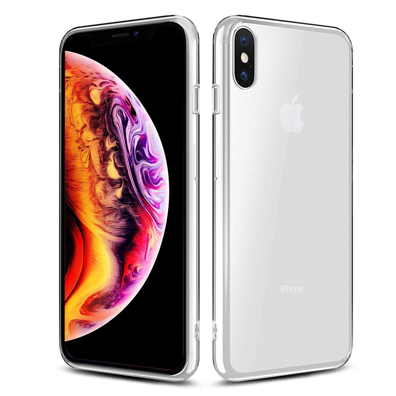 Airror Phone Case Compatible with iPhone XS / iPhone X Cases Clear, Ultra Thin Clear Flexible Soft TPU, [ Support Wireless Charging ] Non-Slip, Protect Cover Clear Cases Slim Fit 305