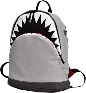 Escuela Unisex Mochila Mochila bolso de escuela 3D Vivid Animal tiburón para niños y niñas con correas ajustables reforzado L Gris