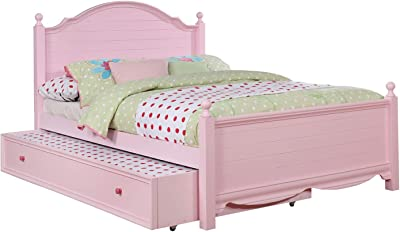 247SHOPATHOME Rossa Panel Kids Bed, Double, Pink