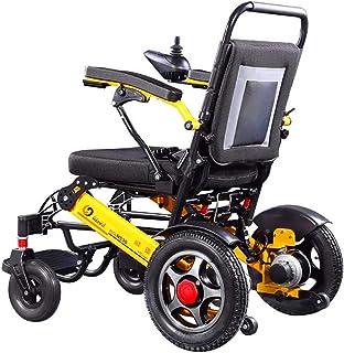 Sillas de ruedas eléctricas para adultos Peso ligero plegable portátil plegable Silla de ruedas eléctrica Deluxe Potente doble motor compacto de Movilidad for sillas de ruedas auxilios - pesa sólo 59
