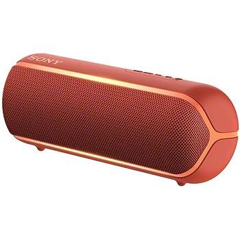 Altavoz inal/ámbrico port/átil Sony SRS-XB22R Bluetooth, Extra Bass, dise/ño port/átil, bater/ía hasta 12h, Sonido Live Sound, Party Booster, Luces, Resistente al Agua y Polvo IP67 Rojo