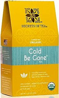Sponsored Ad - Secrets of Tea Cold Be Gone Tea for Cold and Flu Symptoms - Natural USDA Organic Caffeine-Free Herbal Immun...