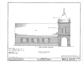 Historic Pictoric Blueprint Diagram HABS VA,64-TUN.V,4- (Sheet 4 of 9) - St. Peter's Church, State Route 642, Tunstall, New Kent County, VA 44in x 32in