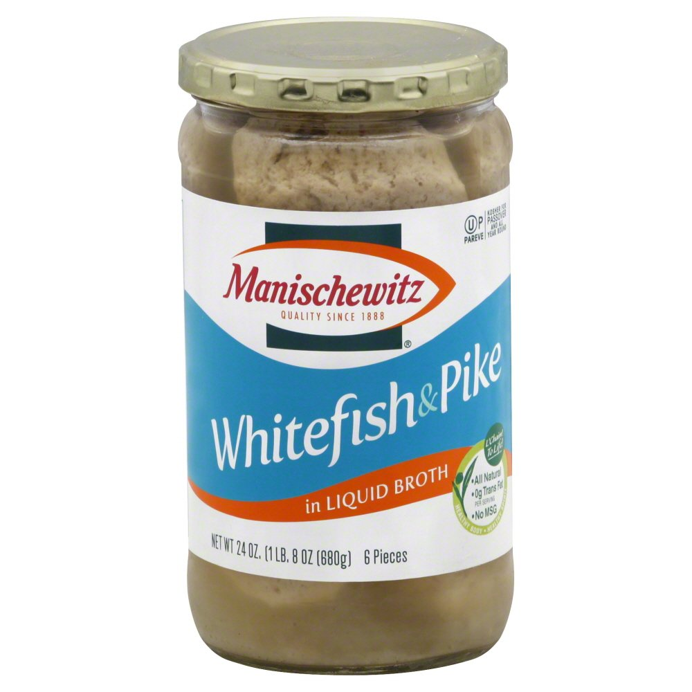 Manischewitz Whitefish Pike Non Jelled Large-scale sale 24.0 Pack Surprise price 3 OZ of