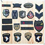 Coser O Planchar En Los Parches Apliques Para Ropa Camiseta Jeans Sombrero Pantalon Bolsas, sello militar Eagle de 19 piezas