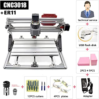 FASTTOBUY CNC 3018 GRBL Control DIY CNC Machine, 3 Axis Acrylic PCB Wood Carving Milling Engraving Machine,CNC Router Kit XYZ Working Area 300x180x45mm