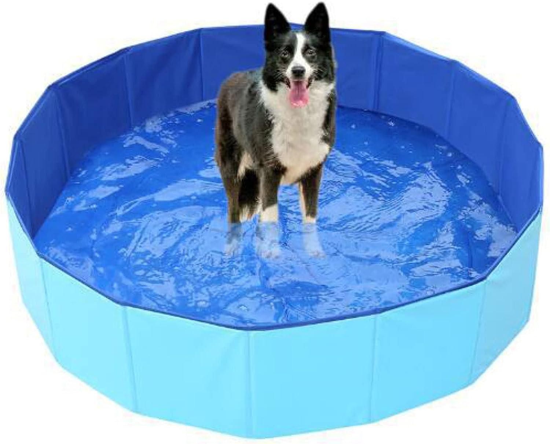 YHLO Piscina para Mascotas PVC Bañera de hidromasaje, bañera de baño Bañera de baño Bañera Plegable Piscina para Mascotas, bañera portátil para niños Perros y Gatos, Pisc 80x30cm