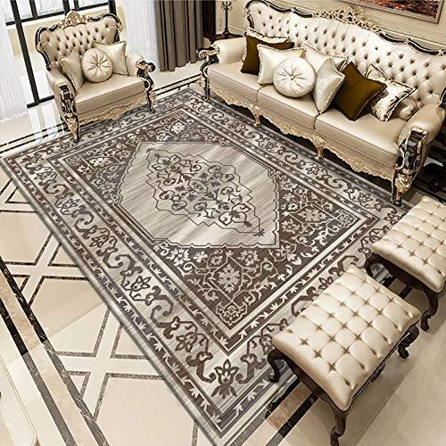 Bosnian European Style Carpet, Non-Slip Thickening Washable Living Room Coffee Table Blanket Bedroom Sofa Entering Cushion