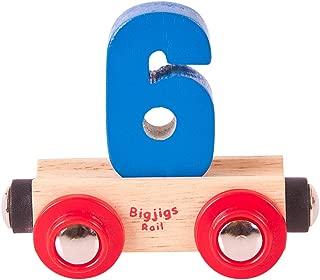 Bigjigs Rail Rail Name Number 6 (Colors Vary)