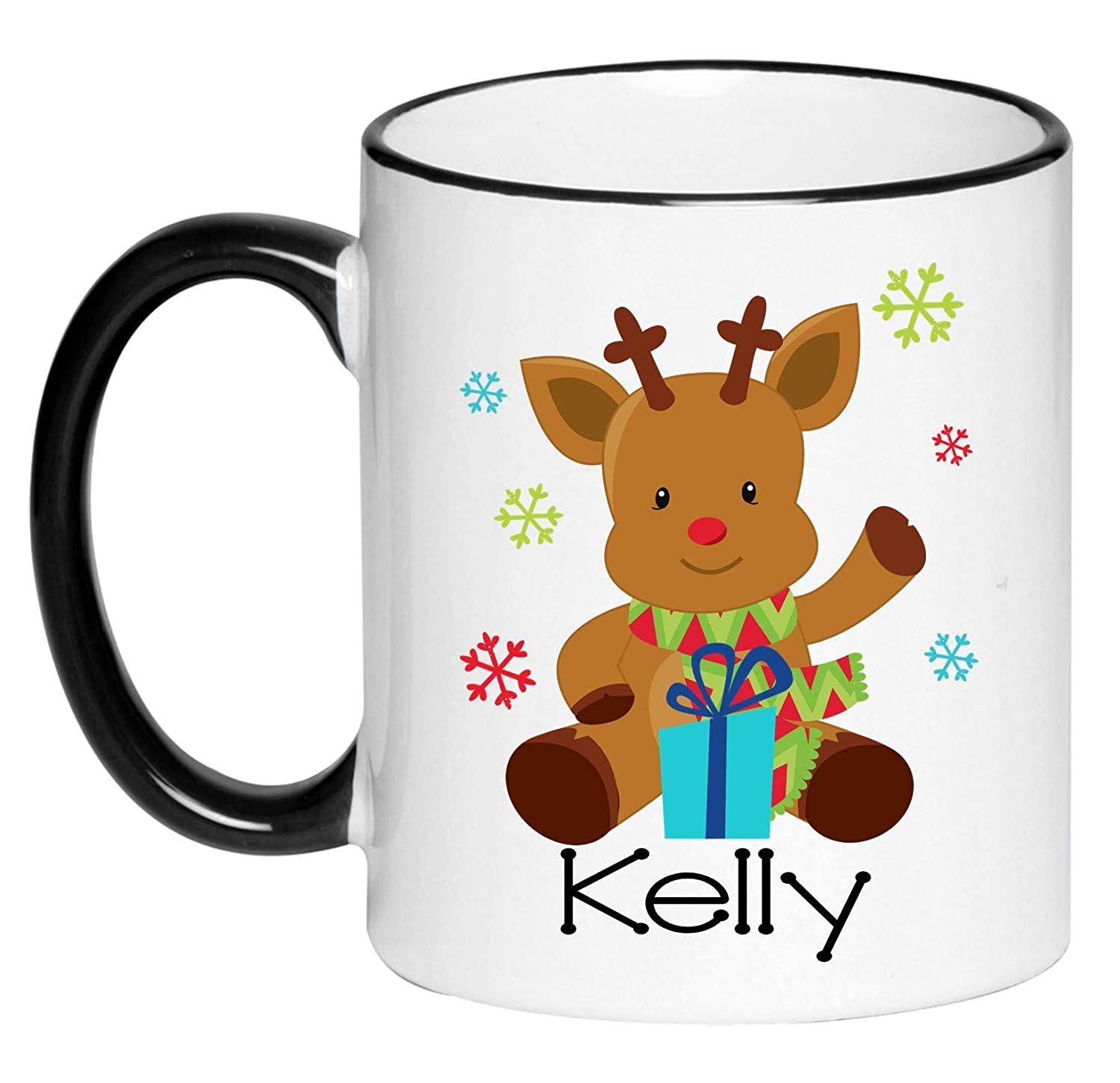 Max 68% OFF Personalized half Reindeer Hot Chocolate G Children's Mug Cocoa