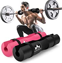 DUMSAMKER 【2019 Upgraded】 Barbell Pad Squat Pad for Lunges, Squats and Hip Thrusts Foam Sponge Pad - Provides Relief to Neck and Shoulders While Training