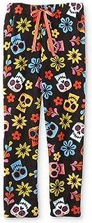 Womens Juniors Coco Sugar Skulls Plush Sleep Lounge Pajama Pants
