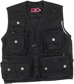 MagiDeal Mesh Fly Fishing Vest Hunting Jacket Outdoor Vest Multi Pocket Waistcoat Work Utility Vest Perfect for Hiking, Photography