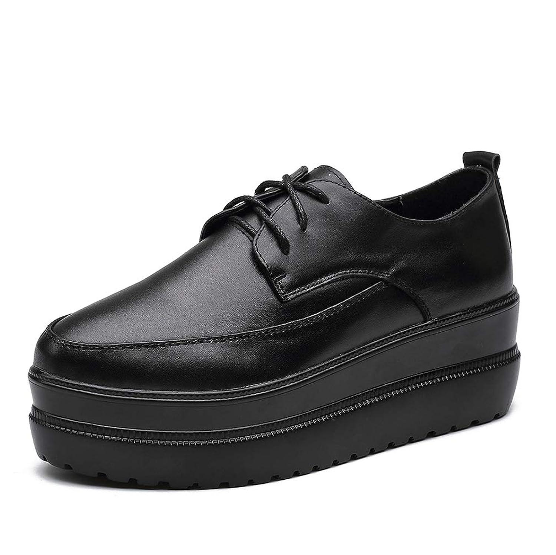 [THLD] 厚底 オックスフォード シューズ レースアップシューズ オックスフォードシューズ 厚底シューズ プラットフォーム ブラック レースアップ 黒 シンプル black 日常 レディース スムース 靴 裏起毛 大人 上品 シンプル おしゃれ
