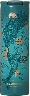 STARBUCKS スターバックス スタバ タンブラー ステンレスシリンダータンブラーサイレン473ml 食器 女神 人魚 セイレーン セイレン anniversary 海 金 ゴールド 緑 グリーン シアン 水筒
