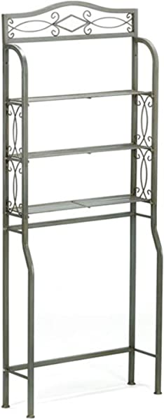 Over The Toilet Space Saver Three Wire Shelves For Storage Sturdy And Durable Metal Construction Designed To Sit Over Standard Toilet Tanks Powder Coated Pewter Gun Metal Finish Expert Guide