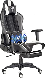 FULLWATT Office Gaming Chair Ergonomic Design Computer Desk Chair Reclining Back with Thickened Doubled-Massage Lumbar Cus...