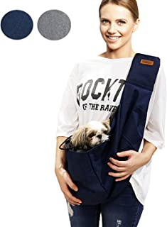 RETRO PUG Pet Carrier for Small and Medium Dogs,Cat - Pet Sling Purse - Front Pack – Travel Puppy Carrying Bag – Pet Pouch – Adjustable Shoulder Strap – Premium Dog Carrier – 15~20 lbs