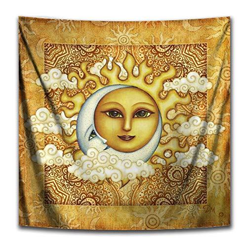 Sun Moon Perfect Pair Square Tapestry by Dan Morris