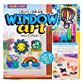 Made By Me Create Your Own Window Art by Horizon Group USA, Paint Your Own Suncatchers. Kit Includes 12 Pre-Printed Suncatchers + DIY Acetate Sheet, Window Paint, Suction Cups, & More, Assorted Colors from Horizon Group