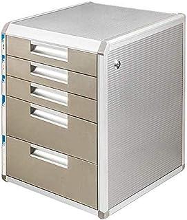 MTYLX Cabinet de Fichiers/Rack, Alliage D'Aluminium de 5Ème Étage + Tiroir de La Planche À Bois D'Armoire de Bureau Fourni...
