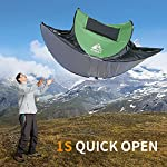 HEWOLF Automatic Pop-Up Tents - Instant Portable Cabana Beach Tent - UV Protection Sun Shelter for Beach Camping Hiking
