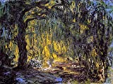 Monet Wall Art Collection Canvas Weeping Willow 2, 1918 by Claude Monet Prints Wrapped Gallery Wall Art | Stretched and Framed Ready to Hang 24X32
