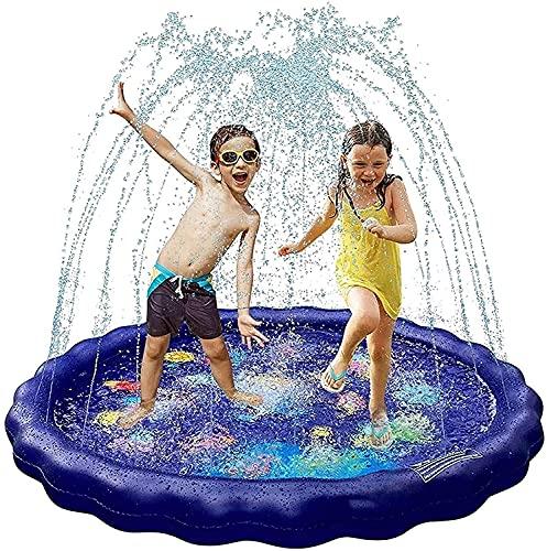 LSWY 68'Almohadilla de rociadores de Agua para niños, colchoneta Inflable Colorida, jardín, Patio Trasero, rociador de Agua de Fiestas para Juguetes portátiles