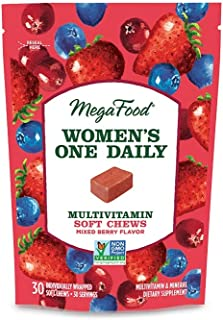 MegaFood, Women's One Daily Multivitamin Soft Chews, Daily Supplement, Supports Optimal Health and Well-Being, Gluten-Free...