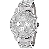 Luxurman Watches Mens Diamond Watch 3ct