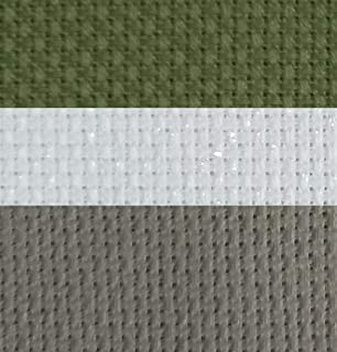 "12"" x 18"" by 3 Pack 14CT Counted Cotton Aida Cloth Cross Stitch Fabric (White Opal+Olive+Grey)"
