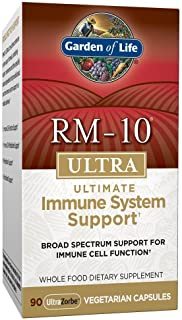Garden of Life RM-10 Ultra Ultimate Immune System Support - 90 Capsules, Broad Spectrum Support for Immune Cell Function, ...