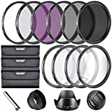 67mm nd filter kit - Neewer 67MM Complete Lens Filter Accessory Kit for Lenses with 67MM Filter Size: UV CPL FLD Filter Set + Macro Close Up Set (+1 +2 +4 +10) + ND Filter Set (ND2 ND4 ND8) + Other