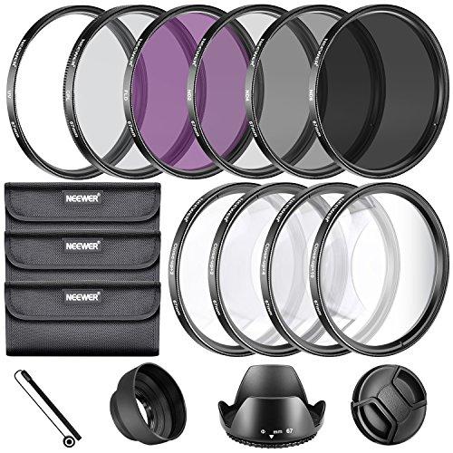 Neewer 67MM komplette Objektiv-Filter Zubehör-Set für Objektive mit 67MM Filtergröße : UV-CPL FLD Set + Makro Nahaufnahmen Set (+1 +2 +4 +10) Filter + ND-Filter-Set (ND2 ND4 ND8) + Sonstige
