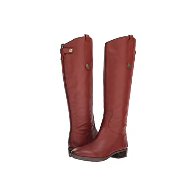 Sam Edelman Penny Leather Riding Boot (Redwood Brown Basto Crust Tumbled Leather) Women
