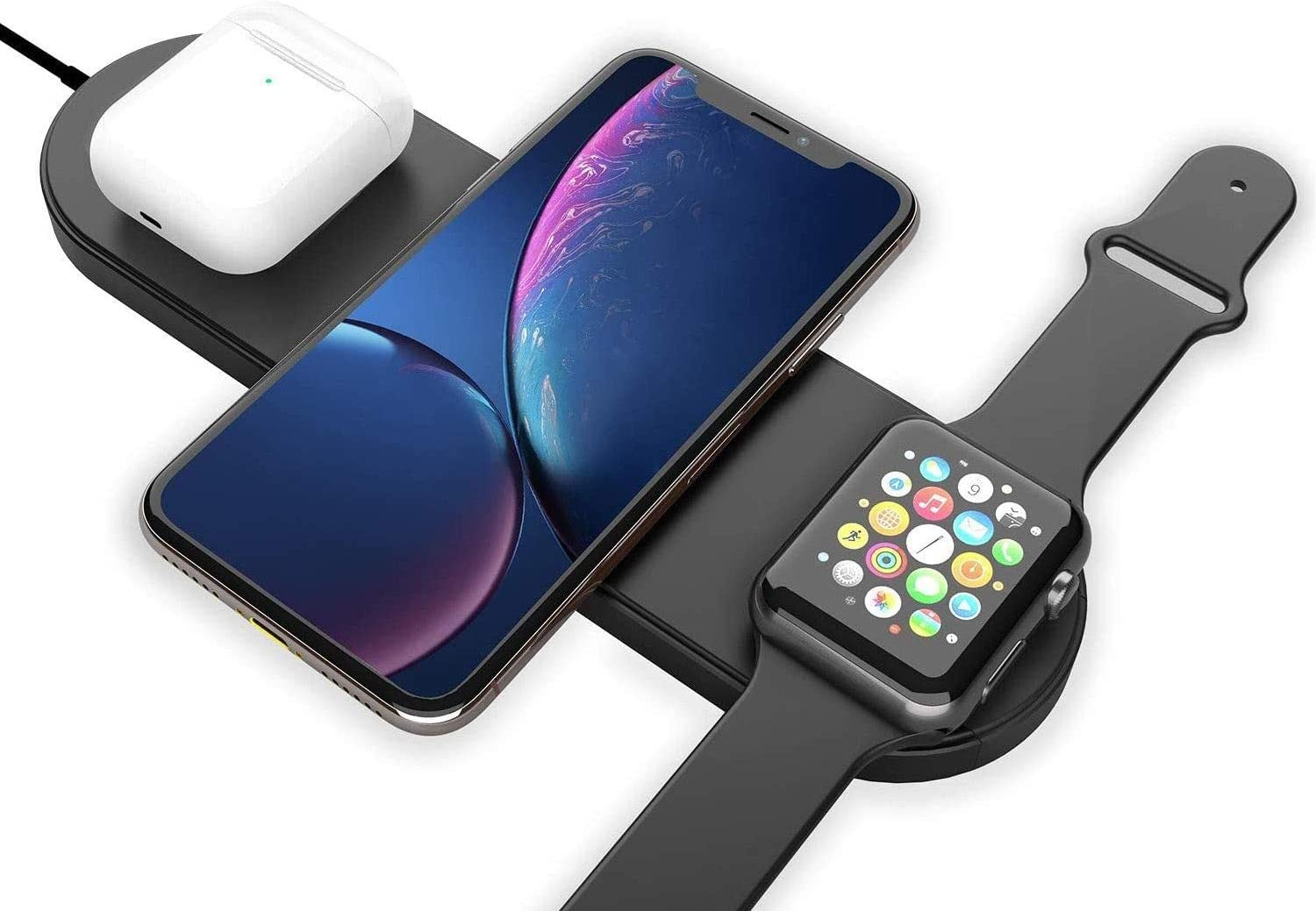 Wireless Charger 3 in 1 Compatible AirPods Watch with Sale Special Price Challenge the lowest price 2 Apple