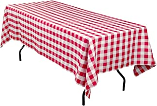 AK-Trading Rectangular Tablecloth Red & White Checker - Made in USA - Select from Various Sizes (60x90)