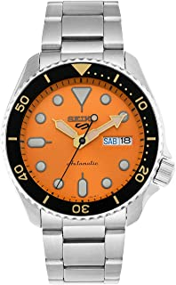 SRPD59K1 سيكو 5 فيس ليفت، مقاومة للماء 10 بار، تقويم، ميناء البرتقالي، ساعة رجالي