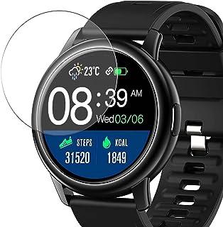 Vaxson 3-pack skärmskydd i härdat glas, kompatibelt med Donerton BOZLUN S27 1,3 tum smartwatch smartwatch, 9H skyddsskydds...