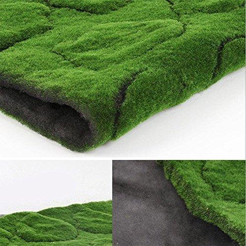 ZENGAI Couloir tapis Pelouse, mur vert plantes de mousse vert, pelouse artificielle fenêtre de scène vert affichage fausse mousse ( taille : A-100*100cm )