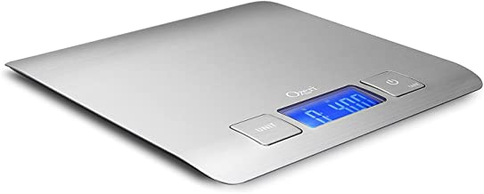 Zenith Digital Kitchen Scale by Ozeri, in Refined Stainless Steel with Fingerprint Resistant Coating