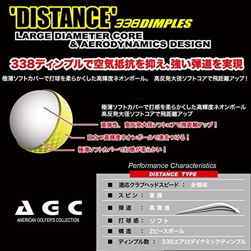 LEZAX(レザックス)ゴルフボールAGC2ピース1ダース(12個入り)ネオンイエローAGBA-4714YE