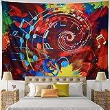 Leofanger Music Tapestry Wall Hanging Music Note Decor Tapestry Wall Tapestry Hippie Colorful Psychedelic Bohemian Mandala Tapestry Bedroom Home Dorm Decor (Large-78.8'x59.1', Musical Note)