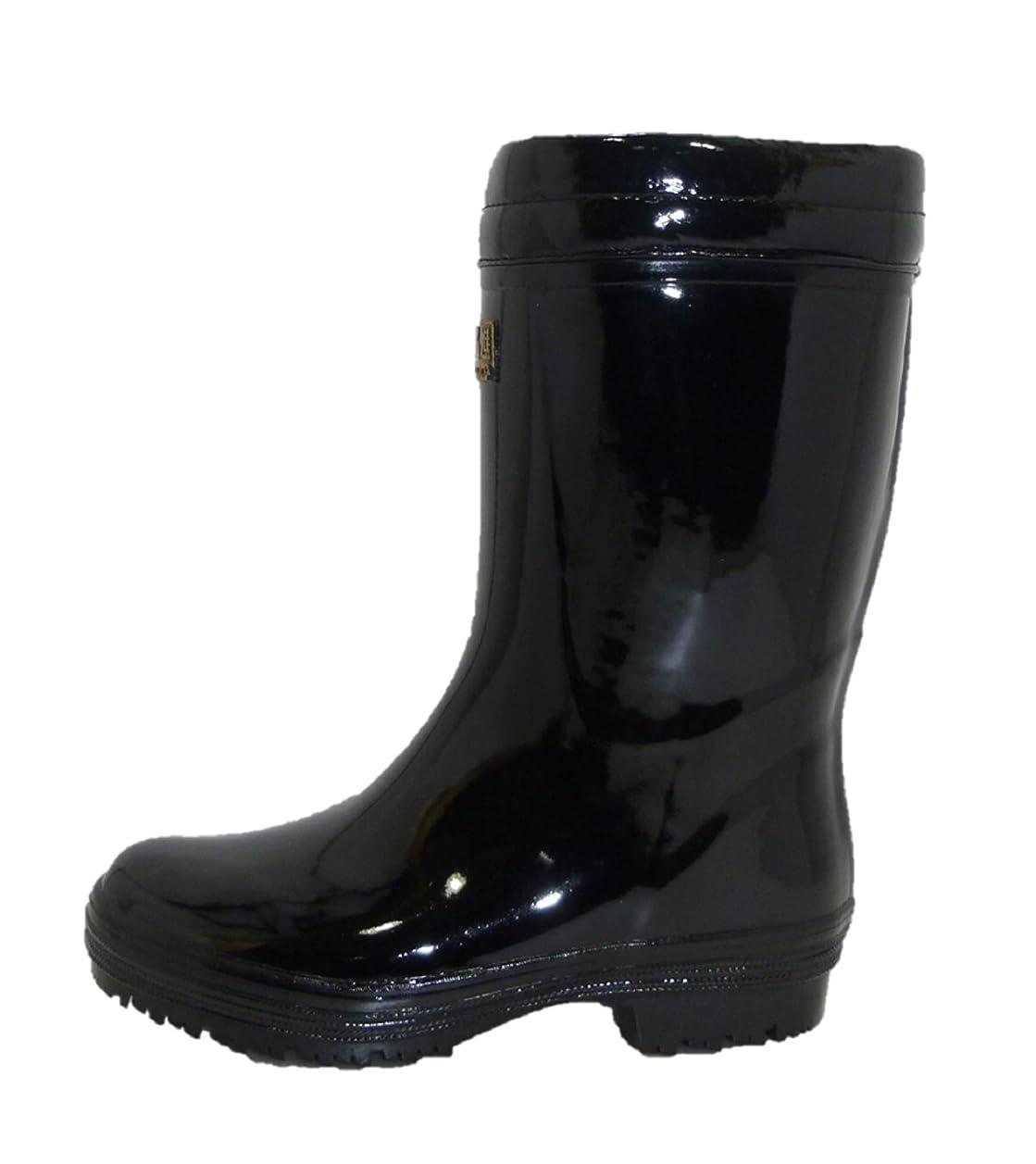 九時四十五分解放毎日メンズ軽量防寒ボア付長靴 ニューライト防寒軽半長 黒 MWNS