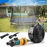 OM Trampolin Sprinkler, 49FT/15M Trampolin Wassersprinkler, Outdoor Trampolin Wassersprinkler, Trampolin Spray Wasserpark Garten Sprinkler Sommer Outdoor Sprinkler für Kinder