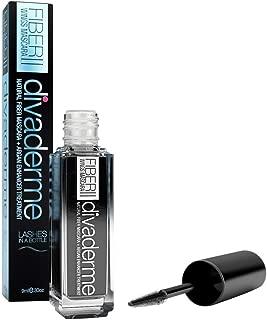 Divaderme Fiber Wings Mascara II - 100% Natural Semi-Permanent - Natural Fiber Mascara Plus Argan Enhancer Treatment - Enhancer Treatment - Eyelash Growth Enhancer- Made in USA