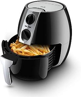 LEILEI Friteuse à air compacte sans Huile,friteuse à air Tour 4,5 litres,friteuse électrique sans fumée Domestique 1400 W ...